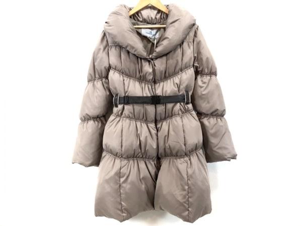 ビアッジョブルー ダウンコート サイズ2 M レディース美品  ライトブラウン 冬物