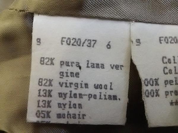 FENDI(フェンディ) コート サイズ42 M レディース ベージュ×ブラウン 冬物