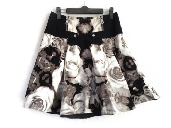 L.A.M.B(L.A.M.B) スカート サイズ0 XS レディース 白×黒 花柄