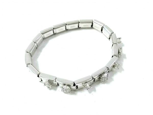 NARAGIOIE(ナラジョイエ) ブレスレット美品  金属素材 シルバー ラインストーン
