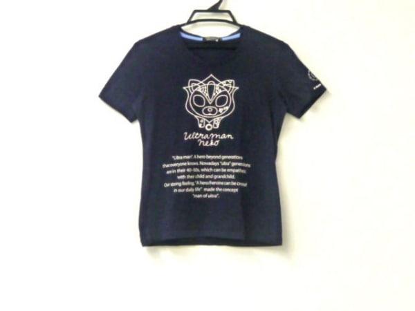 ギルドプライム 半袖Tシャツ サイズ34 S レディース新品同様  ダークネイビー×白