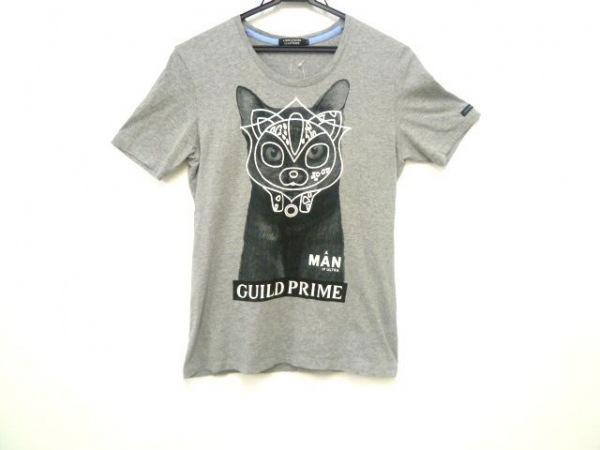 ギルドプライム 半袖Tシャツ サイズ36 S レディース ライトグレー×黒×白