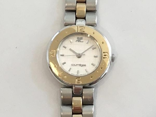 COURREGES(クレージュ) 腕時計 4N01-0280 レディース シルバー