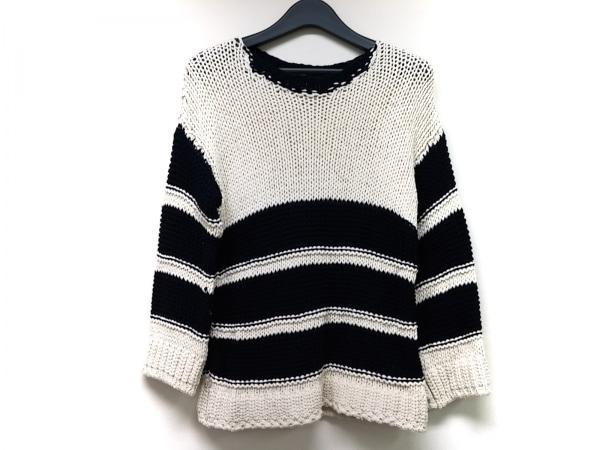 liviana conti(リビアナコンティ) 長袖セーター サイズ38 M レディース 白×ネイビー