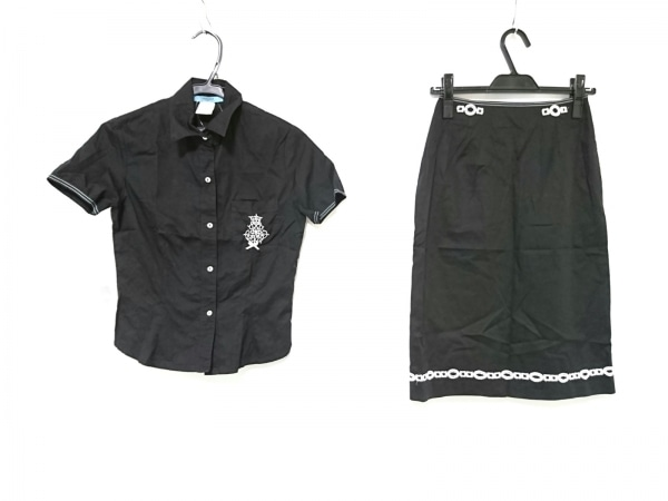 TSUNODA(ツノダ) スカートセットアップ サイズ38 M レディース 黒×白