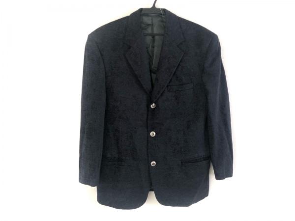 ヴェルサーチクラシック ジャケット メンズ美品  黒 肩パッド/ネーム刺繍/V2