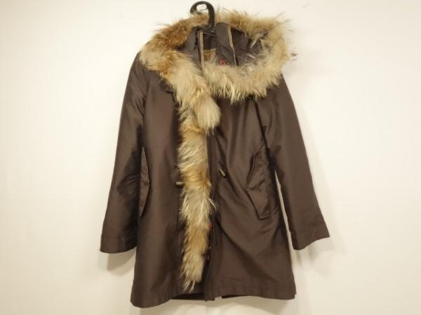 ラレグロ コート サイズ38 M レディース美品  ダークブラウン×ベージュ 冬物