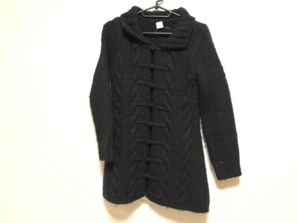I.S.sunao kuwahara(スナオクワハラ) コート サイズM レディース 黒 ニット/冬物