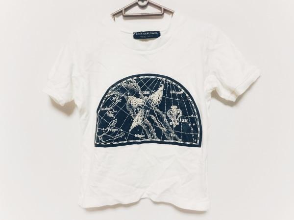KEITA MARUYAMA(ケイタマルヤマ) 半袖Tシャツ レディース 白×黒 ショート丈