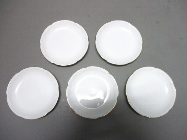 okura china(大倉陶園)(オオクラチャイナ) プレート新品同様  白 プレート×5 陶器