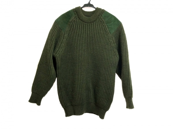 HIGHLAND 2000(ハイランド 2000) 長袖セーター メンズ ダークグリーン×グリーン