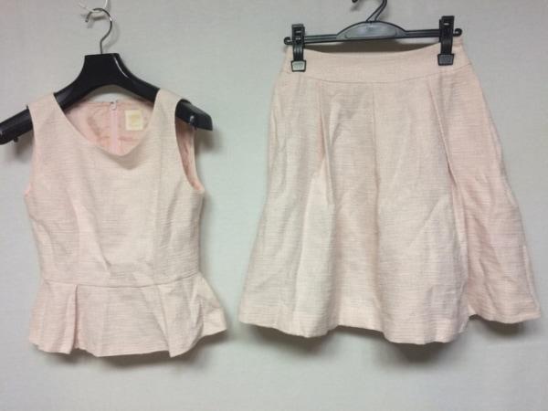 エレクチュール スカートセットアップ サイズ38 M レディース美品  ピンク ラメ