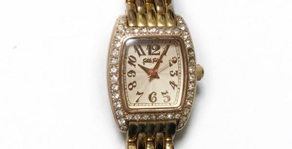 フォリフォリ 腕時計 WF5R142BP レディース ラインストーンベゼル ピンクゴールド