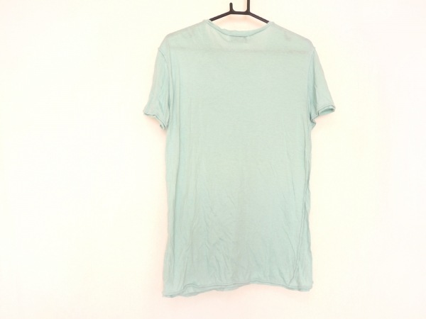 lot holon(ロットホロン) 半袖Tシャツ サイズ46 XL メンズ ライトブルー