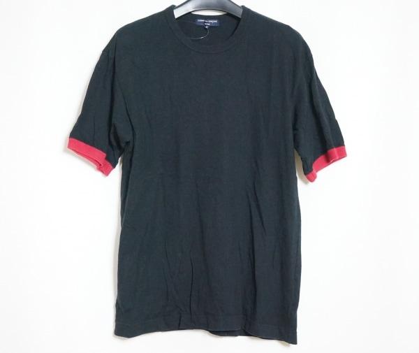 コムデギャルソンオム 半袖Tシャツ サイズS メンズ 黒×レッド