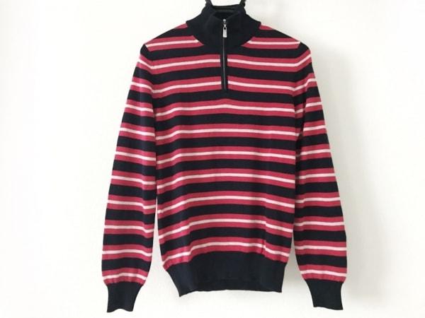 FEDELI(フェデリ) 長袖セーター メンズ新品同様  ダークネイビー×レッド×白