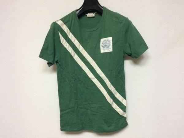 ラルフローレンラグビー 半袖Tシャツ サイズXS メンズ美品  グリーン×白