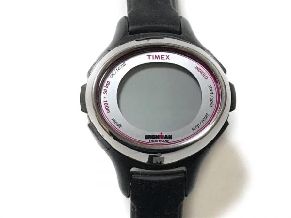 TIMEX(タイメックス) 腕時計美品  - レディース ラバーベルト シルバー
