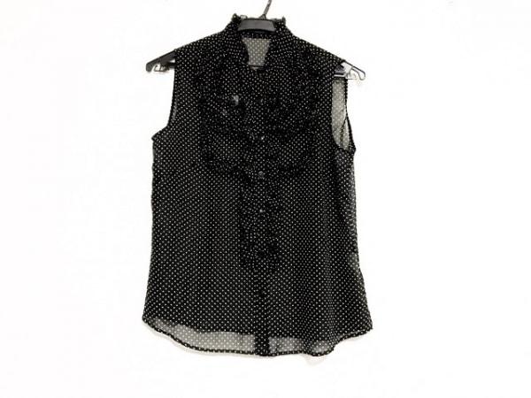 ロイスクレヨン ノースリーブシャツブラウス サイズM レディース美品  黒×白