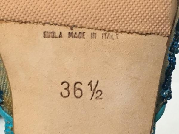 レネカオヴィラ サンダル 36 2/1 レディース ベージュ×ライトブルー×ネイビー