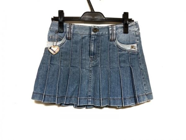 バーバリーブルーレーベル ミニスカート サイズ24 レディース美品  ブルー デニム