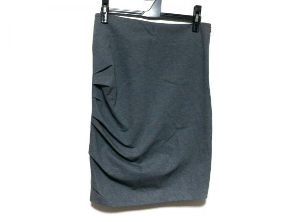 ブルネロクチネリ スカート サイズ40 M レディース美品  ダークグレー ギャザー