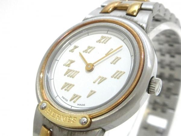 HERMES(エルメス) 腕時計 メテオール - レディース 白