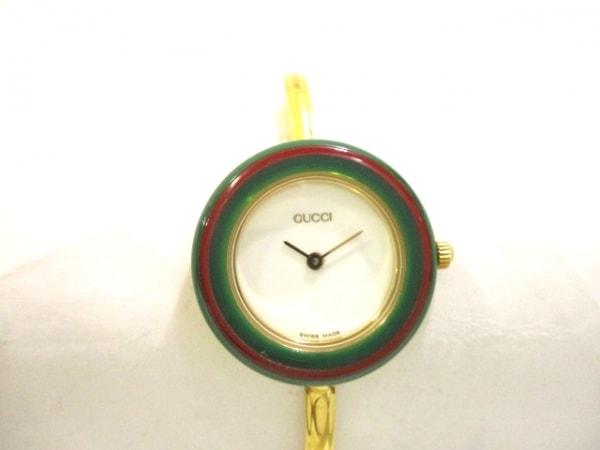 GUCCI(グッチ) 腕時計 ベゼルウォッチ 11/12.2 レディース 白