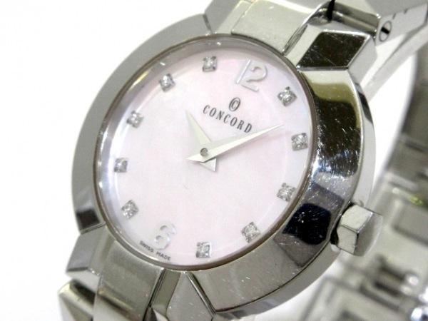 CONCORD(コンコルド) 腕時計 エスシール 14.G4.1843 レディース ピンクシェル