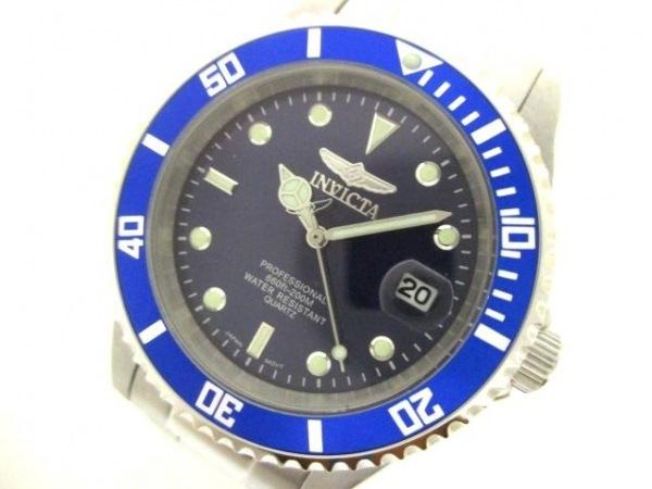 INVICTA(インヴィクタ) 腕時計美品  9204OB メンズ ネイビー×ライトグリーン