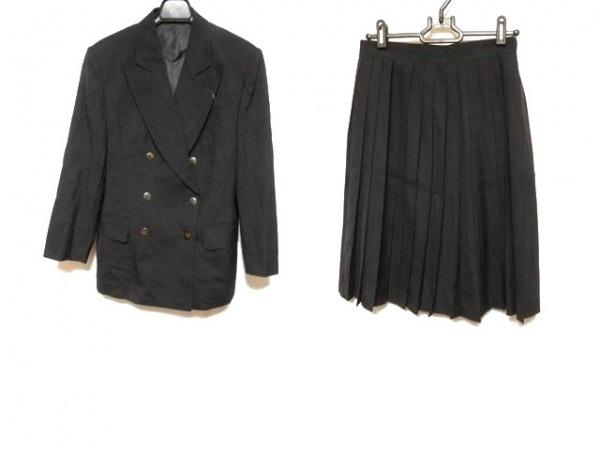 JUNIOR GAULTIER(ゴルチエ) スカートスーツ サイズ40 M レディース 黒 プリーツ