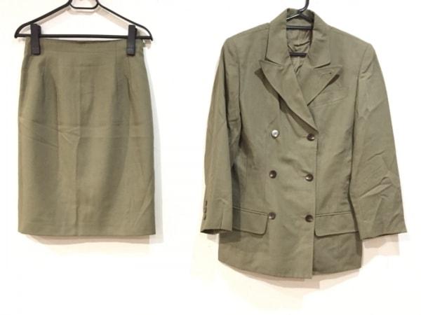 JUNIOR GAULTIER(ゴルチエ) スカートスーツ サイズ40 M レディース美品  カーキ