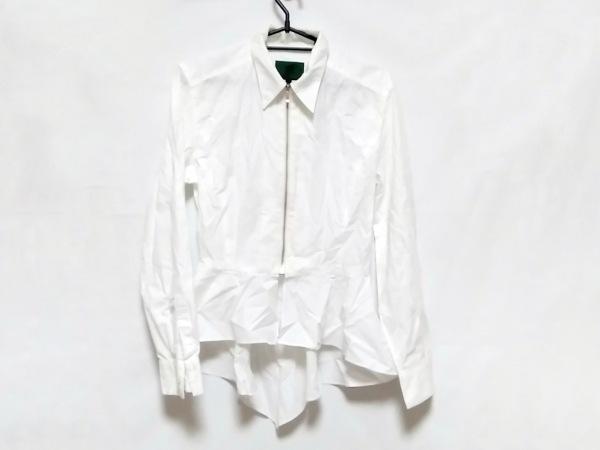 ゴルチエ 長袖シャツブラウス サイズ40 M レディース 白 ジップアップ/変形