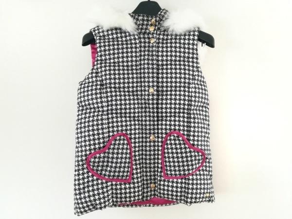 ジューシークチュール ダウンベスト サイズ14 XL レディース美品  黒×白×ピンク