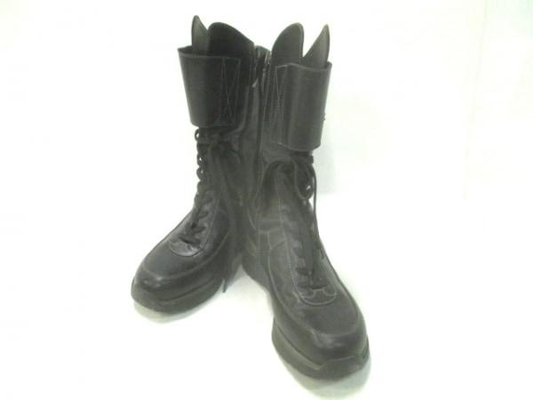 CESARE PACIOTTI(チェーザレパチョッティ) ブーツ 36 レディース 黒 4US レザー