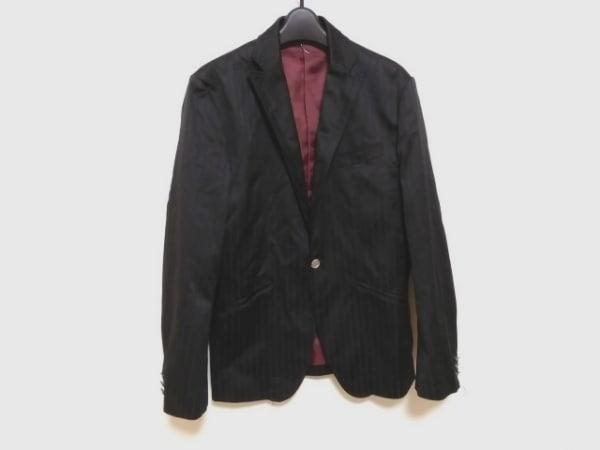 A.S.M(アトリエサブメン) ジャケット サイズ52 メンズ美品  黒×ダークグレー
