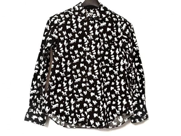ブラックコムデギャルソン 長袖シャツ サイズXS メンズ美品  黒×白