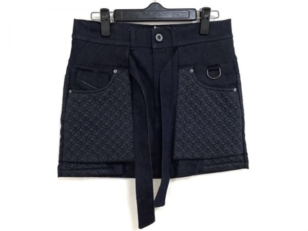 ディーゼルブラックゴールド ミニスカート サイズ36 S レディース美品  ネイビー