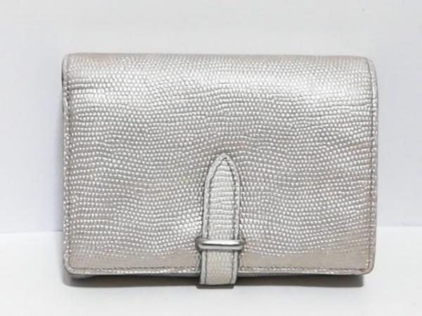 GANZO epoi(ガンゾエポイ) 2つ折り財布 アイボリー 型押し加工 レザー