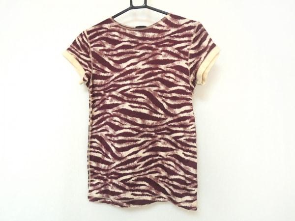 ゴルチエオム 半袖Tシャツ メンズ美品  ボルドー×ベージュ 虎柄