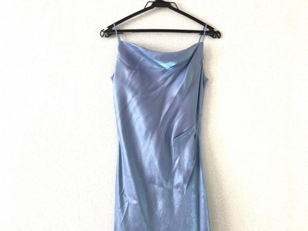La Defence(ラデファンス) ドレス サイズ9 M レディース美品  パープル×ライトブルー