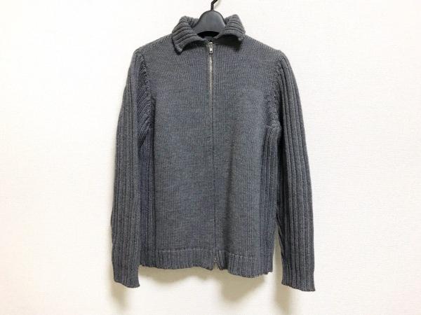 ZANONE(ザノーネ) 長袖セーター メンズ グレー ジップアップ