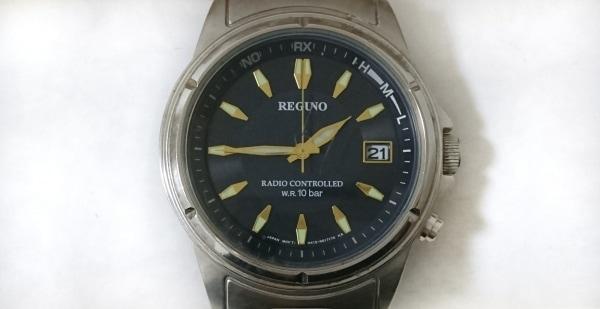 REGUNO(レグノ) 腕時計 - メンズ ダークネイビー×シルバー