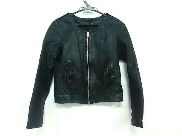 クルーンアソング ライダースジャケット サイズ38 M レディース 黒 レザー/春・秋物