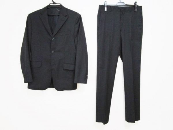 コンプリート シングルスーツ サイズ3 L メンズ 黒 ストライプ/肩パッド