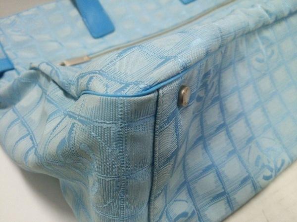 CHANEL(シャネル) トートバッグ ニュートラベルライン ライトブルー×ブルー