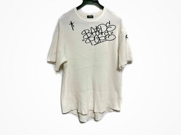 PAMEO POSE(パメオポーズ) 半袖カットソー サイズF レディース 白×黒 刺繍