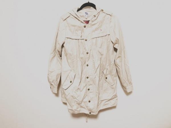 アーノルドパーマー コート サイズ2 M レディース美品  ベージュ 春・秋物/フード