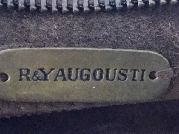 R&Y AUGOUSTI(アール&ワイオーガスティ) ショルダーバッグ スエード×レザー×ウッド