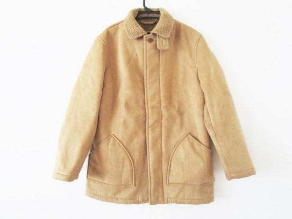 トーマスバーバリー コート サイズM メンズ ライトブラウン 冬物/フェイクムートン